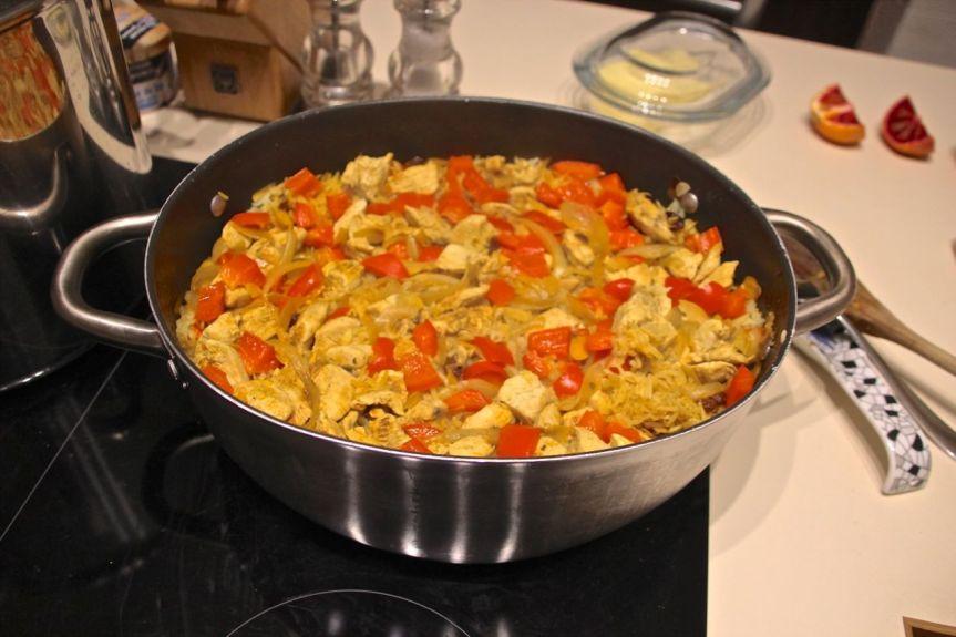 Turkish Chicken Pilau with Saffron &Almonds